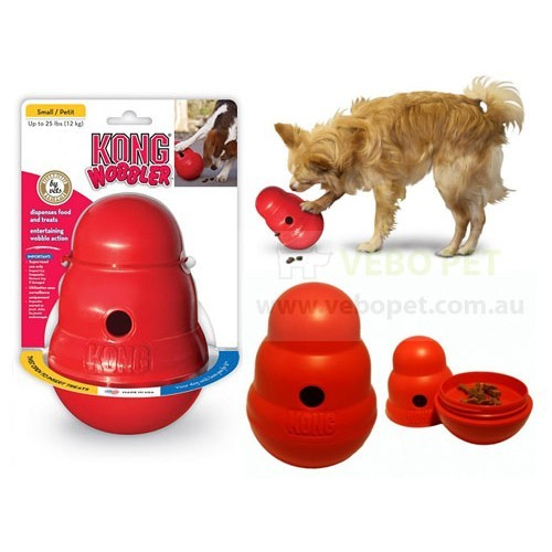 Kong Wobbler Treat Dispensing Doy Toys Vebo Pet Supplies