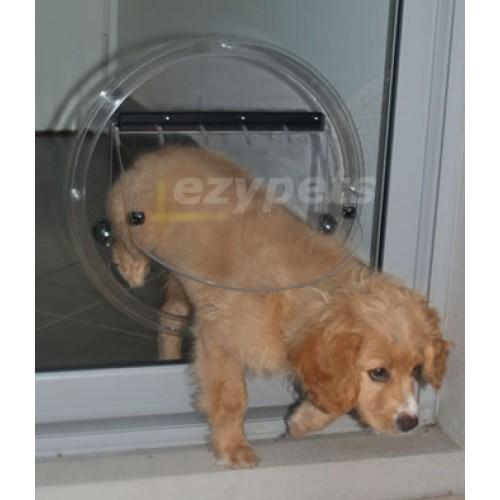 Transcat 4 way Locking Pet Door for Glass Fitting Dog