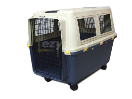 e05c1b4b4f VEBO Airline Approved Plastic Pet Carrier Crate for Medium Dogs (Medium)