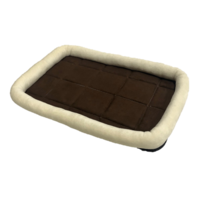Rectangular Dog Bed with Pillow Edge