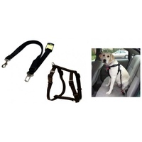 VEBO Car Seat Belt Leash and Harness Set for Dog (4 sizes)