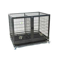 VEBO Metal Tube Stackable Twin Dog Cage (2 sizes)