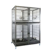 VEBO Metal Tube Stackable Twin Dog Cage (4 Berth Small/Large)