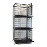 VEBO Metal Tube Dog Cage with wheels [30inch Triple]