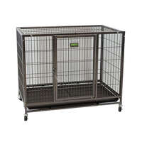 VEBO Metal Tube Stackable Dog Cage with wheels [4 sizes]