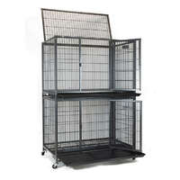 VEBO Metal Tube Dog Cage with wheels [36inch Double]
