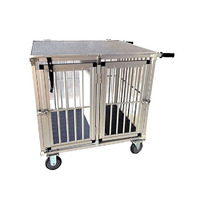 VEBO Deluxe 2 Berth Aluminium Dog Show Trolley (3 Sizes)