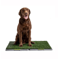 VEBO 60x45cm Synthetic Grass Dog Potty Toilet Tray