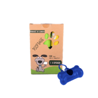 Pack of 180 Dog Poo Waste Cleanup Bags with Key Ring Dispenser