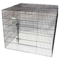 VEBO Metal Dog Pen Enclosure with Roof
