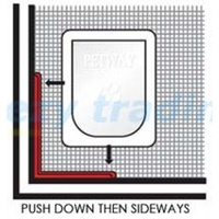 PETWAY L bracket for Insect Screen Pet Door Installations