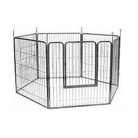 VEBO 6-panel Metal-tube Heavy-duty Dog Play Pen (3 sizes)