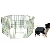 VEBO Extra Heavy Duty 6-Panel Outdoor Dog Pen (2 sizes)