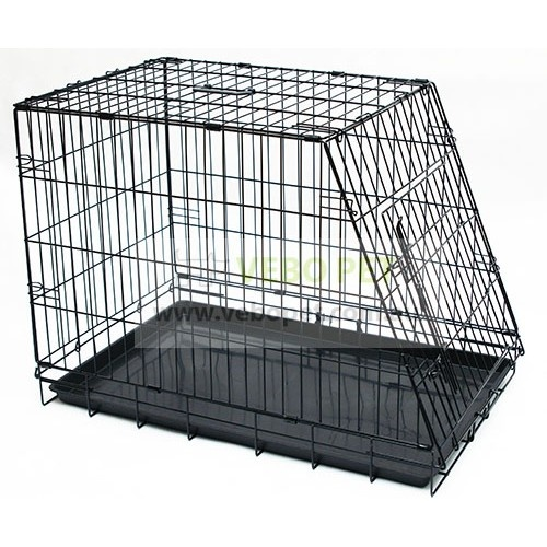 VEBO Collapsible Wire Pet Dog Crate with Slanted Side for Cars (2 sizes)