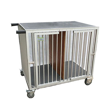 VEBO 2-Berth Aluminium Pet Dog Show Trolley Crate (Medium)