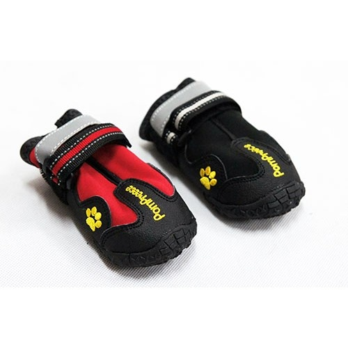PomPreece High Performance Dog Shoes (Size 8 | Black)