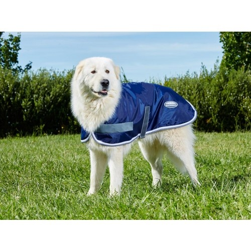 WeatherBeeta WINDBREAKER 420D Water Resistant Dog Coat (55cm | Navy / White)