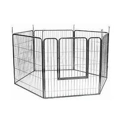 VEBO 6-panel Metal-tube Heavy-duty Pet Exercise Play Pen (Small)