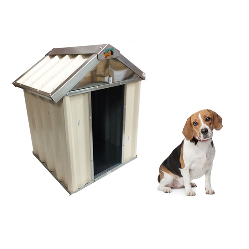 VEBO Outdoor Metal Dog Kennel House (Small 60cm)